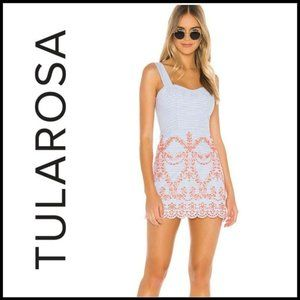 NWT TULAROSA Ari Embroidered Mini Dress, Size S